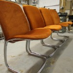 Four 1970s French  Chrome Chairs £165  SOLD