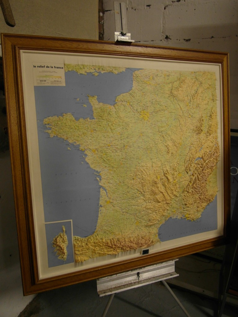 Institute National Relief Map of France Framed  £195