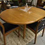 Vintage Spottrup Solid Teak Danish Table and with Four Chairs  ( built in extension leaf) £450
