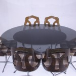 1970s Barget Dining Set with Six Swivel Chairs £595 SOLD