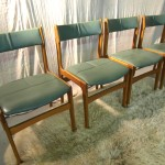Vintage Danish Erik Buck Style Chairs in Teak and Leather £150 SOLD