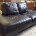 BB Italia Modular Sofa in Black Neck Leather £695 SOLD