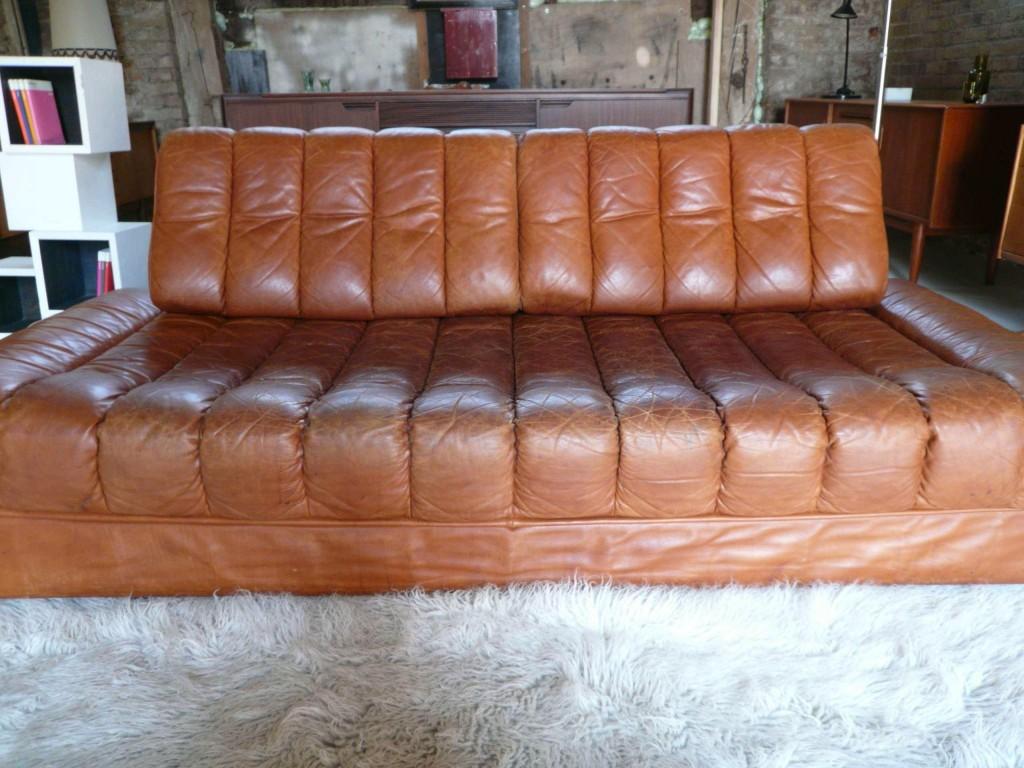 Vintage De Sede Daybed in Cognac Buffalo Hide £1450 SOLD
