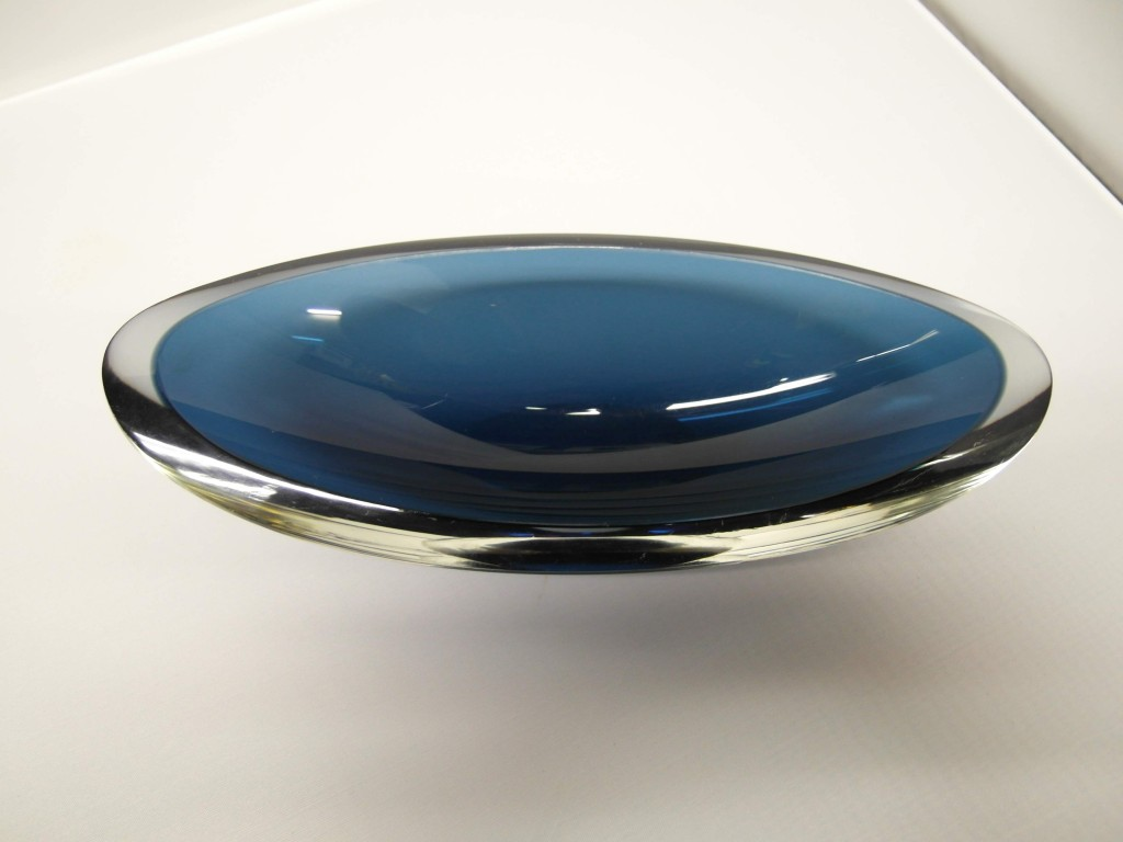 Danish Blue Glass Bowl £35
