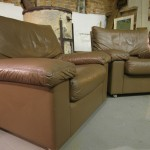 Matching Pair of De Sede Leather Club Chairs £395 SOLD