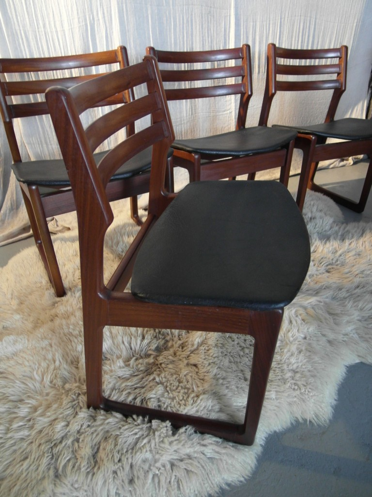 Danish Dining Chairs  By John Herbert in Solid Afromsia £175