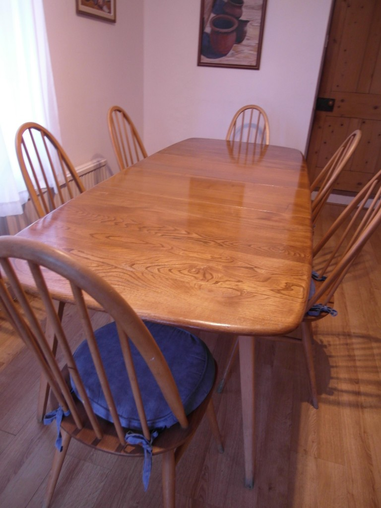 Stunning Ercol Grand Windsor Dining Set With Six Chairs + Carver £860 SOLD