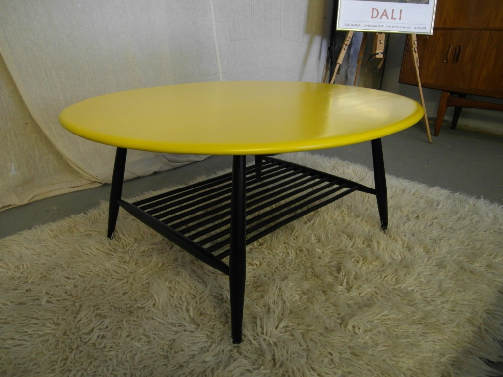 Vintage Ercol Sofa Table in Black and Lemon Yellow £250