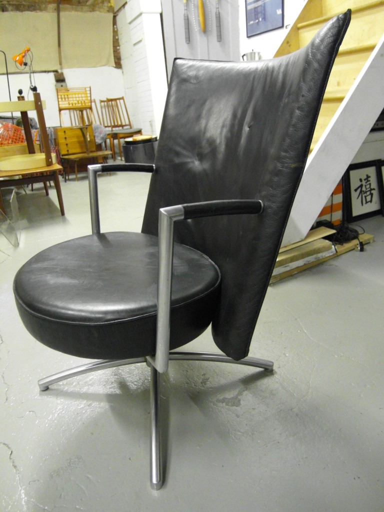 Erik Joregensen EJ70 Partner Chair in Leather and Steel £1295 SOLD