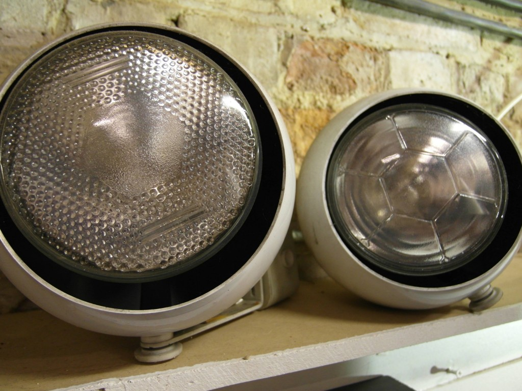 Full Set of 25 Vintage Eyeball Spotlights with Powered Gallery Track £895