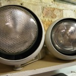 Full Set of 25 Vintage Eyeball Spotlights with Powered Gallery Track £895