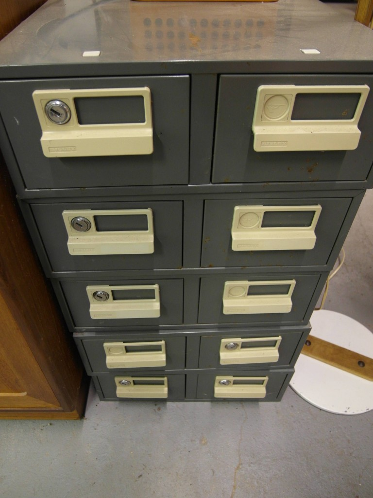 Metal Stackable Card Filing Cabinets £15 each ( 5 available) SOLD