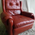 Gimson Slater Armchair in Blood Red English Saddle Seather £495
