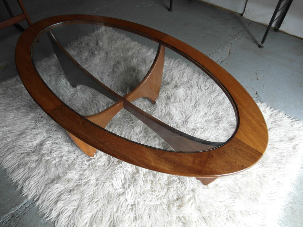 G Plan Astra Oval Coffee Table  with Original Glass £125 SOLD