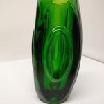 """1950's Czech Green """"Bullet """"Vase £45"""