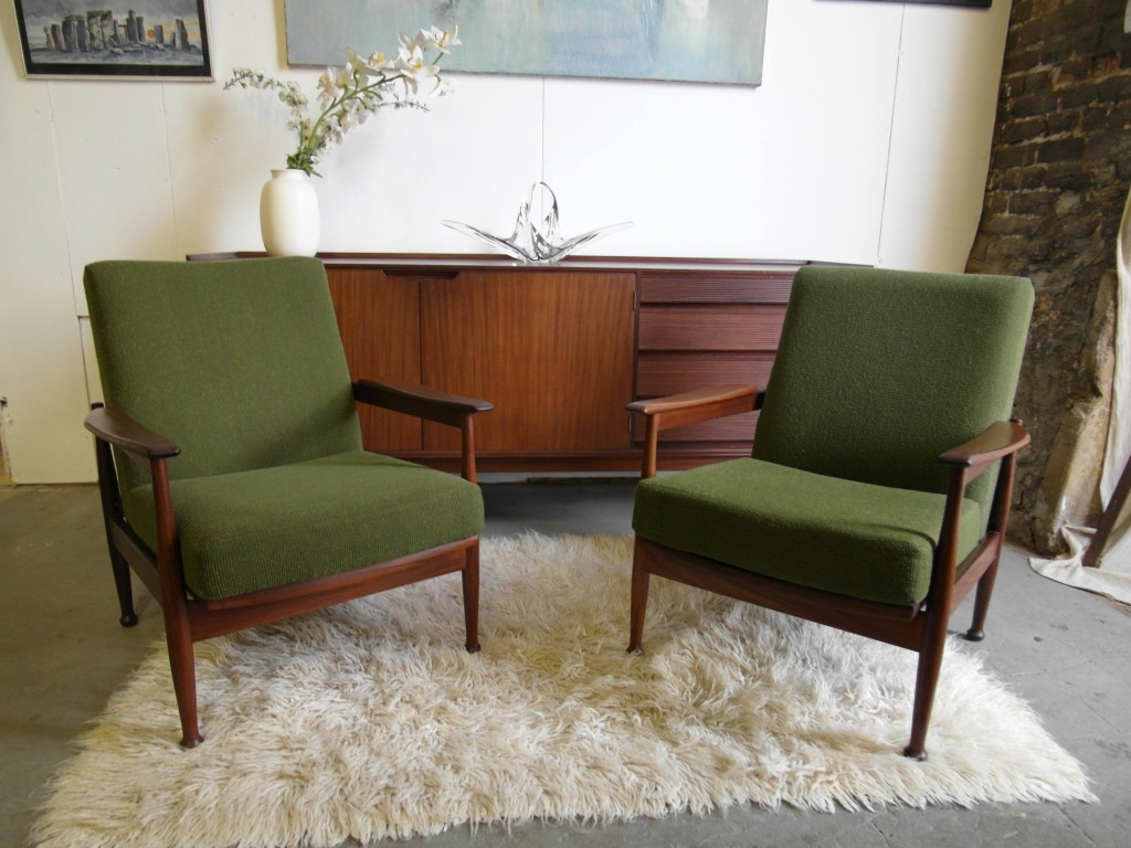 "Pair of Guy Rogers ""Manhatten"" Low Back Reclining Armchairs £495 SOLD"
