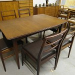 Richard Horny Dining table and six chairs with carver in solid Afromosia £895 SOLD