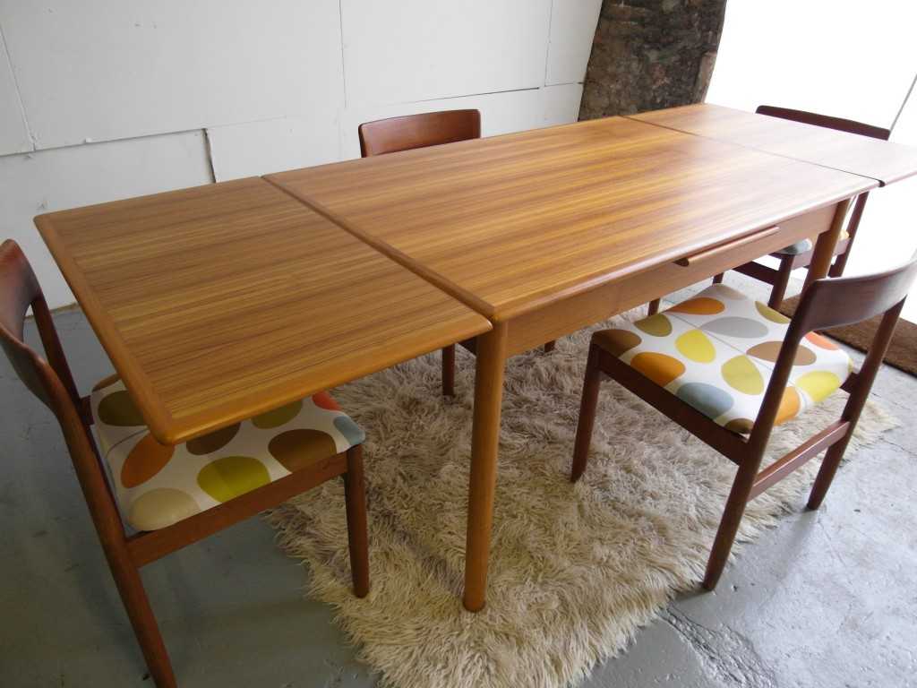 Vintage Danish Dining set In Orla Kiely Multi-Stem Fabric £450 SOLD