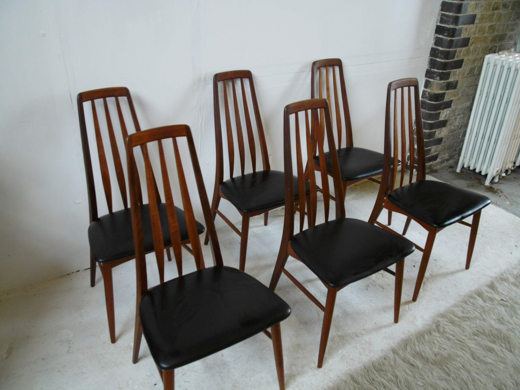 "Six Vintage Teak Kofoeds ""EVA""  Dining Chairs £595 SOLD"