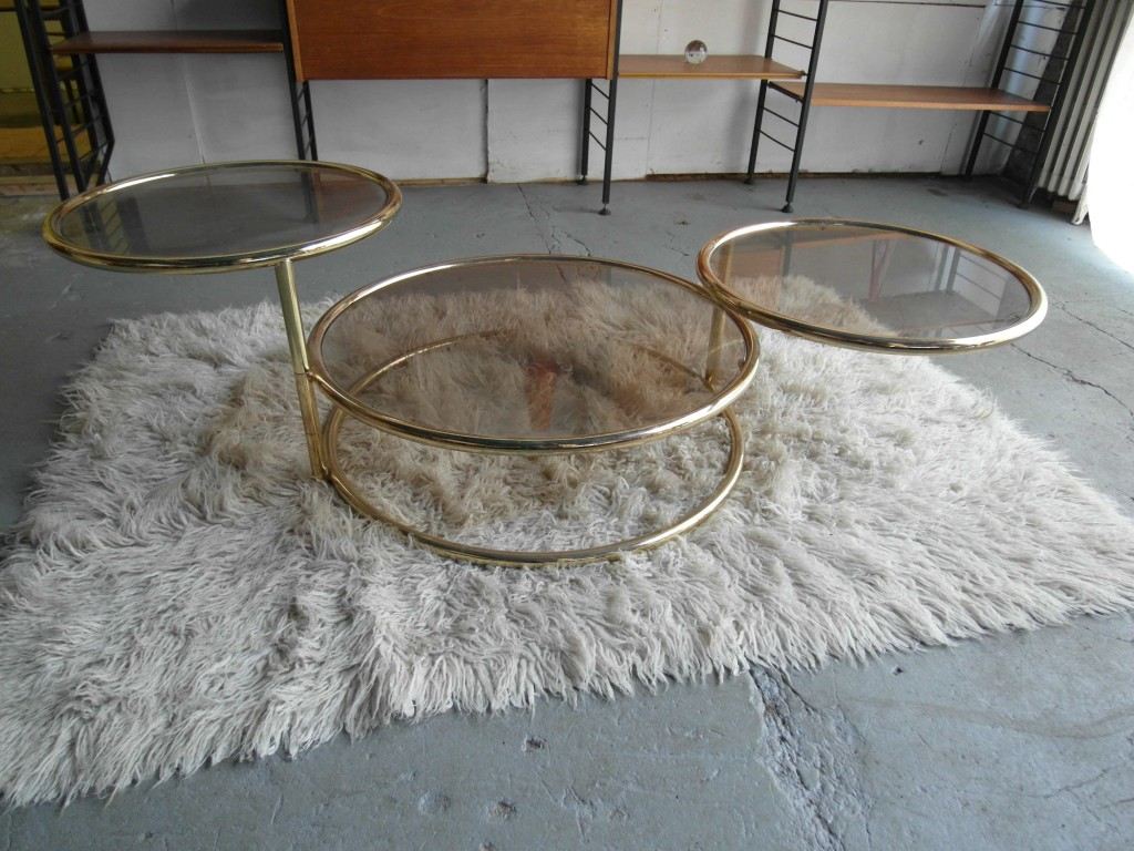 Vintage Italian Chrome and Glass Expanding  Sofa Table £125 SOLD