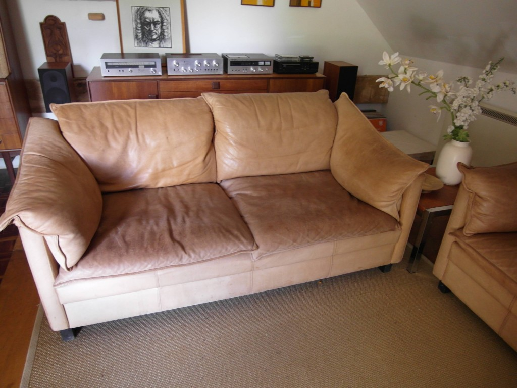 A Rare 1970's Danish Mogensen Sofa in Thick Buffalo Leather (2 available) £495 each SOLD