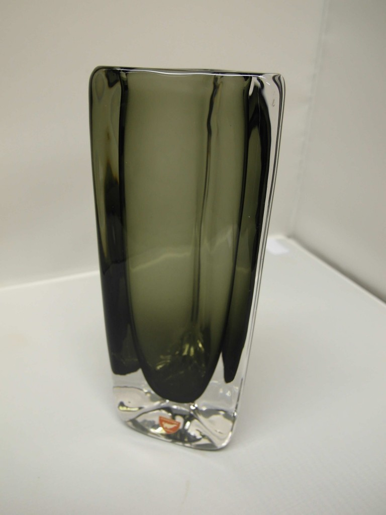 Orrefors Smoked Glass Vase Signed by Nils Landberg £125 SOLD