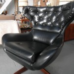 "1960's Parker Knoll  ""Diplomat"" Egg Chair In Black Vinyl £175 SOLD"