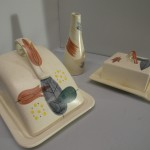 Three Piece Piazza Ware Table Set 1950's £65 SOLD