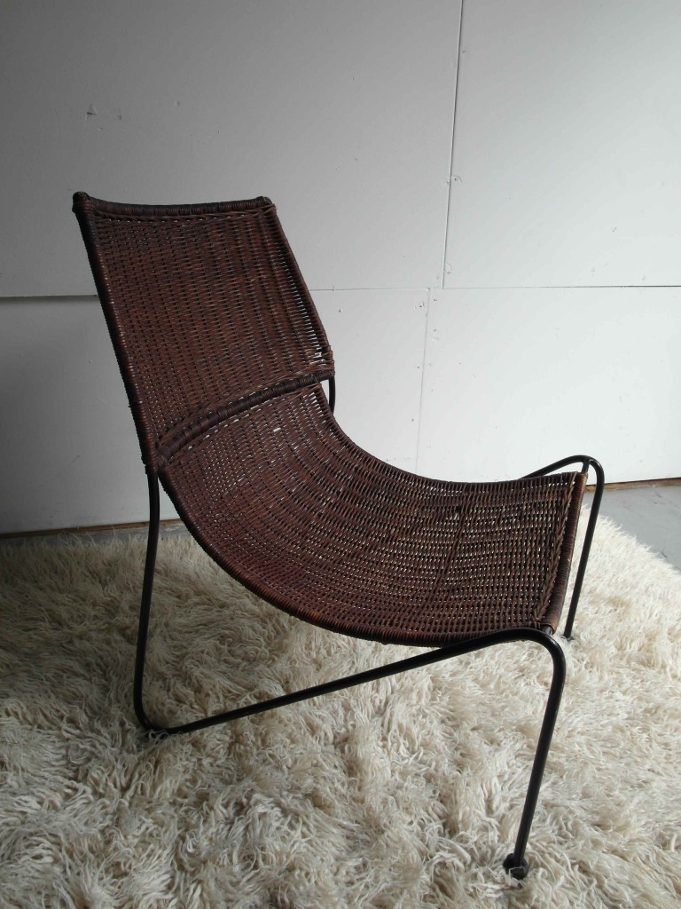 Rare Dick Van Sieedrecht Rattan & Steel Chair for ROHE £495