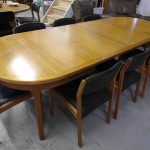 Huge 9ft  Danish Dining Table and Eight Chairs by Spottrup £750 SOLD