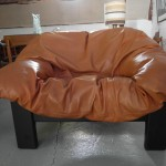 Vintage Danish Tub Chair in Cognac Leather and Ebony. £295 SOLD