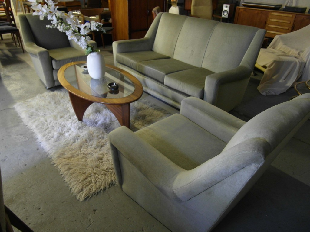 Heals 1960's lounge Suite in Mink Grey £695 SOLD