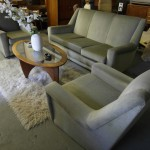 Heals 1960's lounge Suite in Mink Grey £695 SOLD