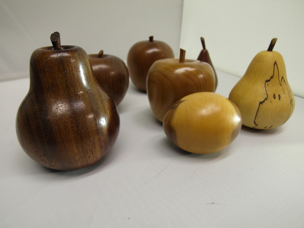 The retrobarn hand carved wooden fruit from £ each