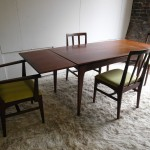 Vintage Younger Dining Set In Afromsia and Lime Silk by Johnny Herbert £595SOLD