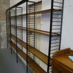 Four bay Vintage Solid Teak Library Shelving £795 SOLD