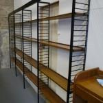 Four bay Vintage Solid Teak Library Shelving £795 SOLD