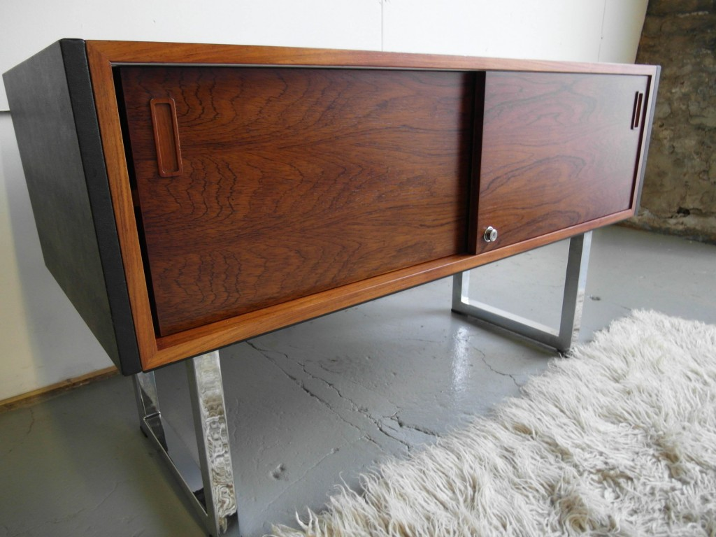 Gordon Russell Credenza in Rio Rosewood and Chrome £950 SOLD