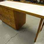1950s Industrial Desk in Teak and Formica £155 SOKD
