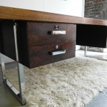Gordon Russell GR Series  Desk in Rio Rosewood and Chrome £2500 SOLD