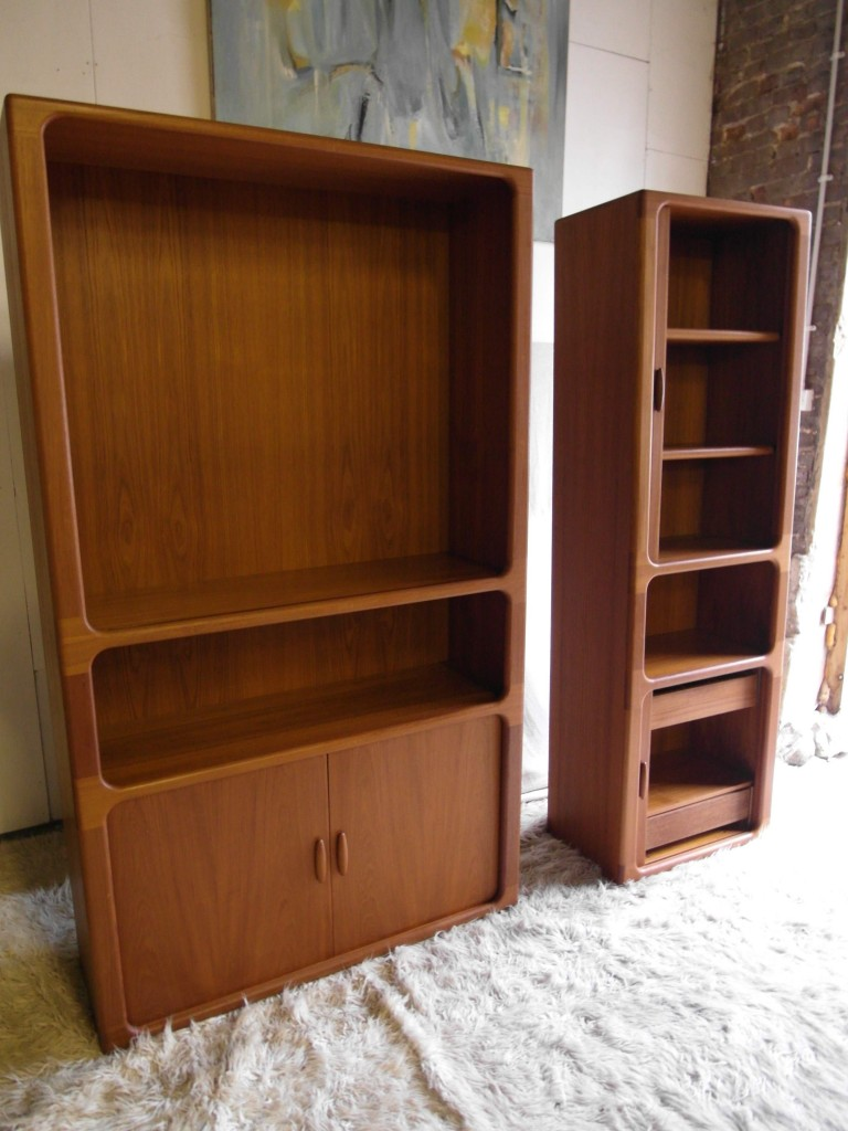 "Rare Dyrlund ""Lozenge"" Tambour Door Bookcases in Teak From £495 SOLD"