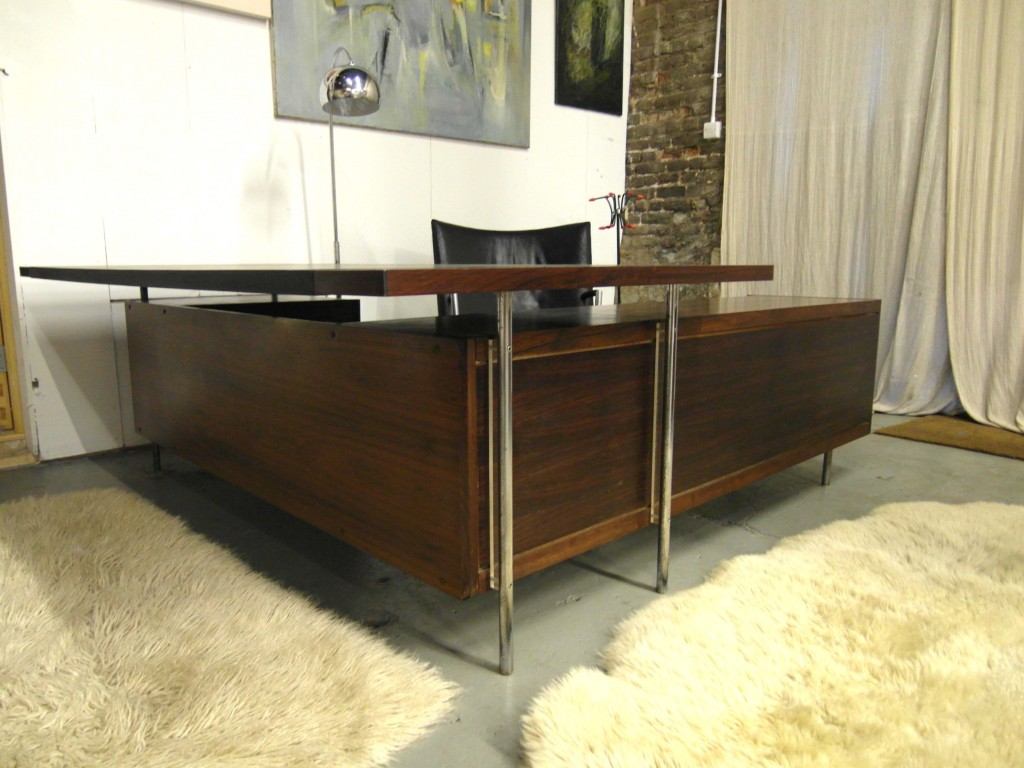 Vintage Robin Day Rosewood Exceutive Desk with Return Credenza £2500SOLD