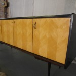 Vintage Italian Rosewood and Maple Lacquered Sideboard £1065 SOLD
