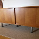 Danish Teak and Chrome Slide Door Sideboard £350 SOLD