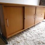 Vintage Danish Teak and Chrome Slide Door Credenza £495