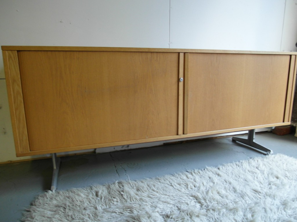 Vintage Danish Tambour Door Sideboard on Aluminium Legs £395 SOLD