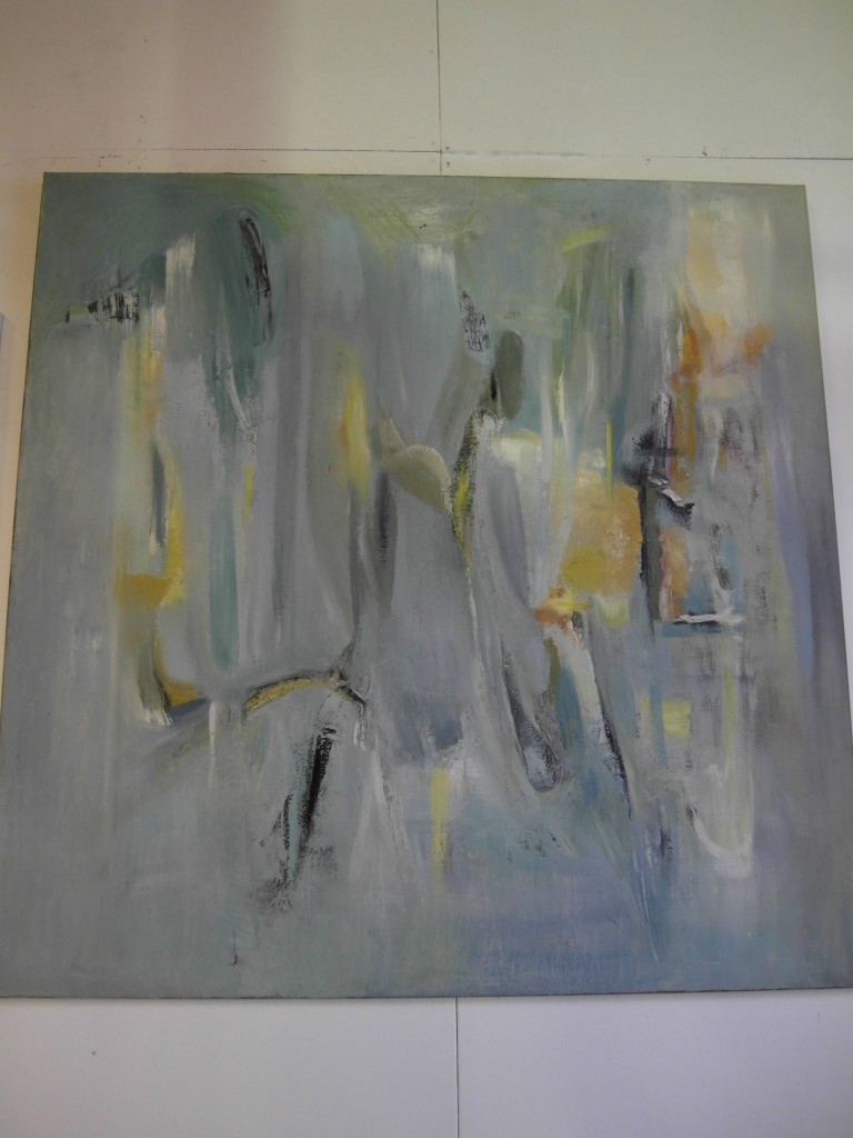 Large 5x5ft 1950s British Modernist Abstract Oil on Canvas £5000