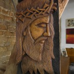 Carved Wood Relief of Christ from Brazilian Church Altar £495