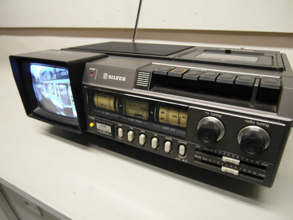Vintage Silver Portable Tape /Radio/TV with Ipod input £95 SOLD