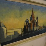 Oil and Pastel lanscape of St Basils Church Moscow £495